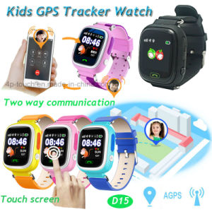 Waterproof Touch Screen Children GPS Tracker Watch with Multiple Languages (D15) pictures & photos