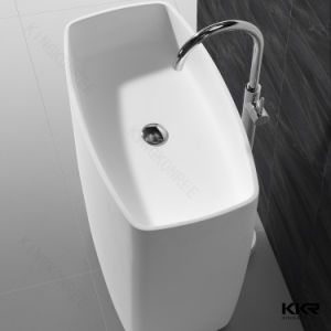 China Sanitary Ware Black Resin Stone Freestanding Basin pictures & photos