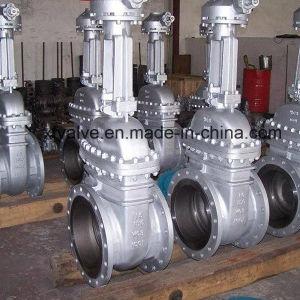 150lb 300lb Cast Carbon Steel WCB Flange End Gate Valve pictures & photos