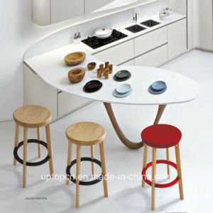 Colorful High Quality Footrest Wooden Bar Stool (SP-EC618) pictures & photos