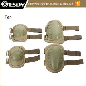 Outdoor Adjustable Airsoft Tactical Protective Knee + Elbow Pads pictures & photos