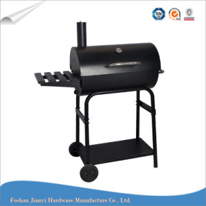 Black Color Charcoal Barrel Smoker Fish BBQ Grill