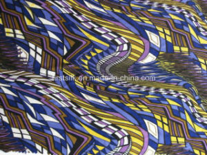 Silk Linen Sinlge Jersey Printed Fabric pictures & photos
