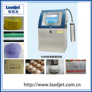Leadjet V280 Industrial Inkjet Date Printer for Plastic Bottles pictures & photos