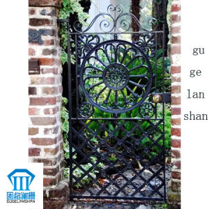 High Quality Crafted Wrought Iron Single Gate 023 pictures & photos