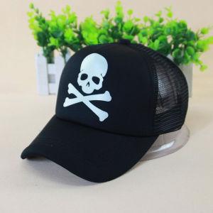 Luminous Skull Printed Halloween Mesh Baseball Cap (YKY3039-2) pictures & photos