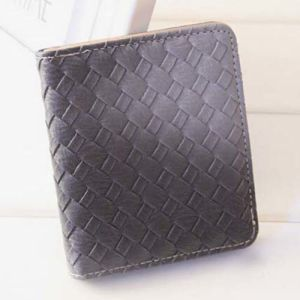 Purse Solid Color Weave Fashion Wallet (XQ0525) pictures & photos
