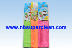 80 Polyester/20 Polyamide Fish Scale Shape Microfiber Cleaning Cloth (CN3618-3) pictures & photos