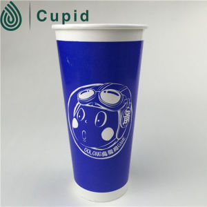 Disposable Custom Printed Double Wall Paper Cups with Lids pictures & photos