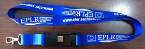 Polyester Material Personalized Logo USB Lanyard pictures & photos