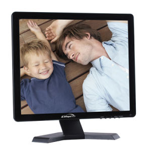 DC Powered 17 Inch Desktop LCD Monitor with VGA USB pictures & photos