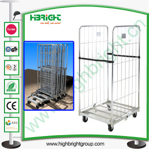 Zinc Cold Steel Folding Roll Trolley pictures & photos
