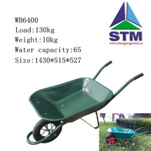 Green Color Wheel Barrow with Pneumatic Wheel pictures & photos