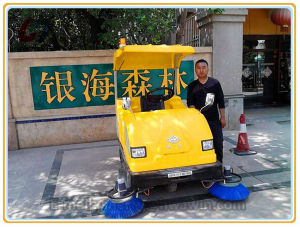 Outdoor Electric Road Sweeper Machine pictures & photos