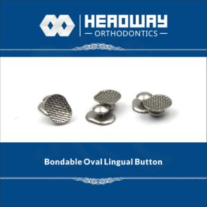 Hot Sale Orthodontic Accessory, Oval Curved Lingual Button with Ce pictures & photos