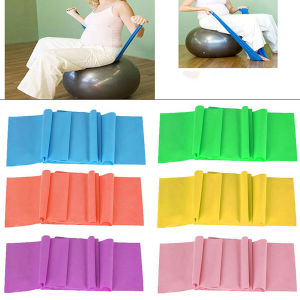 Set of 3 - 5FT Latex Resistance Exercise Bands Yellow, Red & Blue pictures & photos