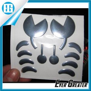 Metalic Silver Chrome 3D Soft Label pictures & photos
