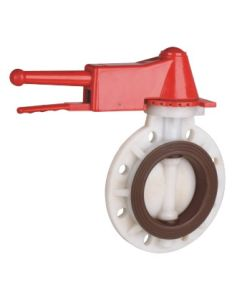 Best Factory PVDF Handle Type Butterfly Valve, Industrial Plastic Valve pictures & photos