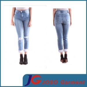 Wide Leg Jean Woman Online Ladie′s Apparel (JC1374) pictures & photos