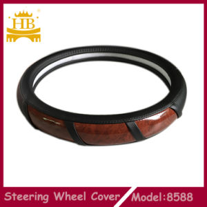 New Design PU with Wood Car Steering Wheel Cover