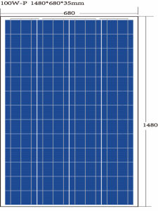 100W Polycrystalline Solar Panel with Grade a Cells pictures & photos