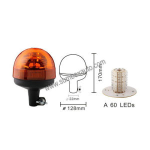 ECE R10 R65 Emark 12/24V Revolving Flash Amber Strobe Beacon LED Warning Light (SM808BA)