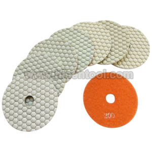 "100mm 4"" White Resin Dry Flexible Polishing Pads for Marble and Engineer pictures & photos"
