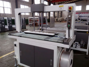 Automatic Flexo 2 Color Printing Slotting Die-Cutting Gluing Strapping Inline Machine pictures & photos