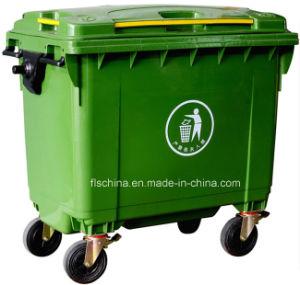 New Model of 660L Outdoor Plastic Mobile Garbage Bin (FLS-660/HDPE/EN840) pictures & photos