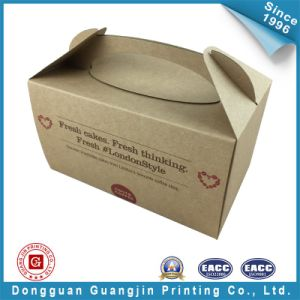 Brown Color Paper Cakes Packing Box (GJ-box141) pictures & photos