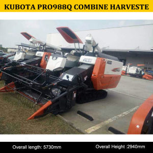 Hot Sale China Kubota 4lz-4.0 Rice Wheat Combine Harvester PRO988q, Used Rice Combine Harvesterpro988q pictures & photos