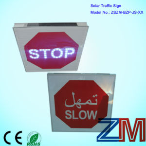 Solar Stop Traffic Sign / LED Road Sign / Flashing Warning Sign pictures & photos