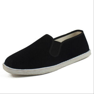 Casual Chinese Cotton Shoes Flats Soft Comfortable for Men (AKCS21) pictures & photos
