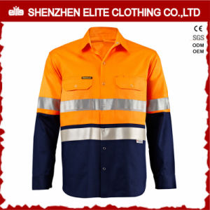 Hi Vis Safety Long Sleeve Work Shirts for Men pictures & photos