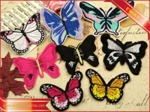Garment Fabric Patch Self-Adhesive Embroidered Handbag Patch pictures & photos