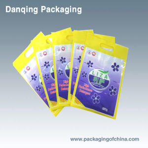 Plastic Packaging Bag, Sanitary Packaging, 3 Sides Sealing Bag with Handle pictures & photos