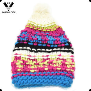 Fashionable Colorful Warm Thick Long Hand Made Hat