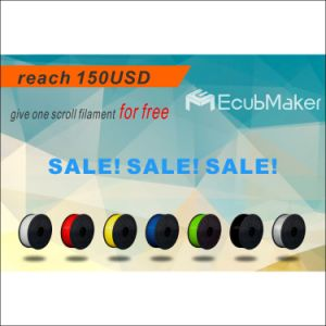 Ecubmaker Professional Manufacture1.75mm 1000g 3D PLA Filament Black pictures & photos