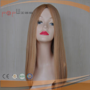 Long Human Mongolian Light Color Hair Full Lace Wigs pictures & photos
