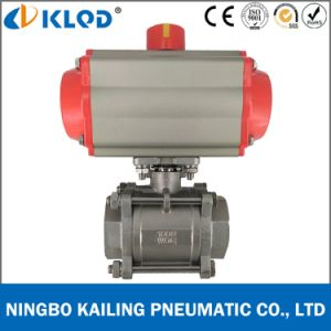 Pneumatic Actuated CF8m 2 Inch Ball Valve for Water Treatment pictures & photos