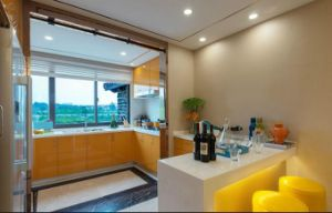 Hot Selling High Glossy Yellow Home Furniture Kitchen Cabinet Yb1709228 pictures & photos