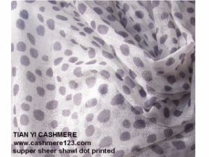 Cashmere Supper Light DOT Print pictures & photos