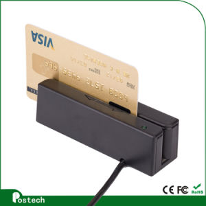 New Portable RS232 Msr100 Hi/Lo-Co 3 Tracks Mini Magnetic Stripe Card Reader pictures & photos