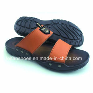 Fashionable Men Slippers PU Sandals Wholesale Flip Flop (FFCY0307-03) pictures & photos
