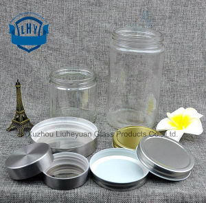 1030ml Food Grade Transparent, Cylindrical, Wide Mouth Storage Glass Jar pictures & photos