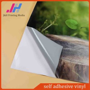 Outdoor Grey Glue Self Adhesive Vinyl PVC for Advertising pictures & photos
