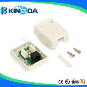 Network RJ45 surface mount box single port pictures & photos