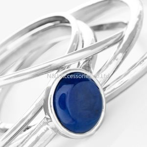 Fashion Silver Plated Blue Gemstone Bracelet Statement Bracelets Wholesale Jewelry for Women pictures & photos
