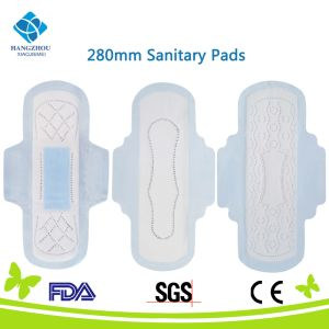 Ce and FDA Certificated 280mm General Cotton Sanitary Napkin pictures & photos