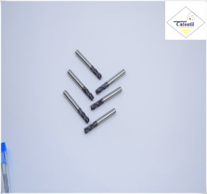 Cutoutil HRC45 Tialn Coating  D4*11*50 2f/4f for Steel CNC Machining Part  Square Carbide End Mills Tools pictures & photos